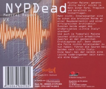 NYPDead - Medical Report 5 - VX CD r