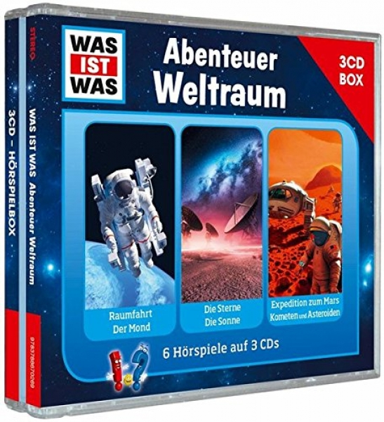 was ist was abenteuer weltraum box 3 cd h rspiel. Black Bedroom Furniture Sets. Home Design Ideas