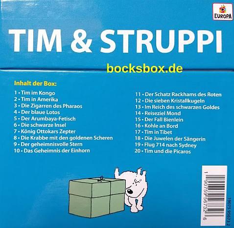 Das Chaos mit der Tim und Struppi Hörspiel-CD-Box